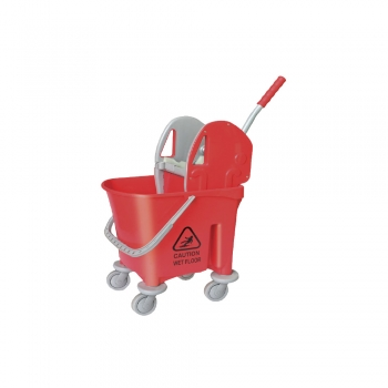 Red Italy Single Mop Bucket - 22L (Down Press)