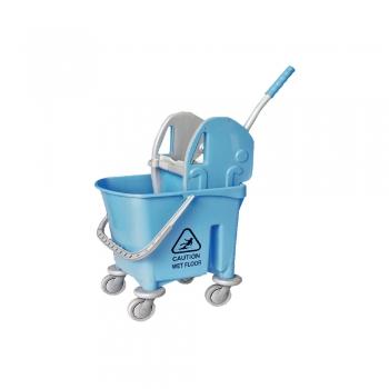 Blue Italy Single Mop Bucket - 22L (Down Press)