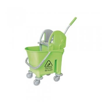 Green Italy Single Mop Bucket - 22L (Down Press)