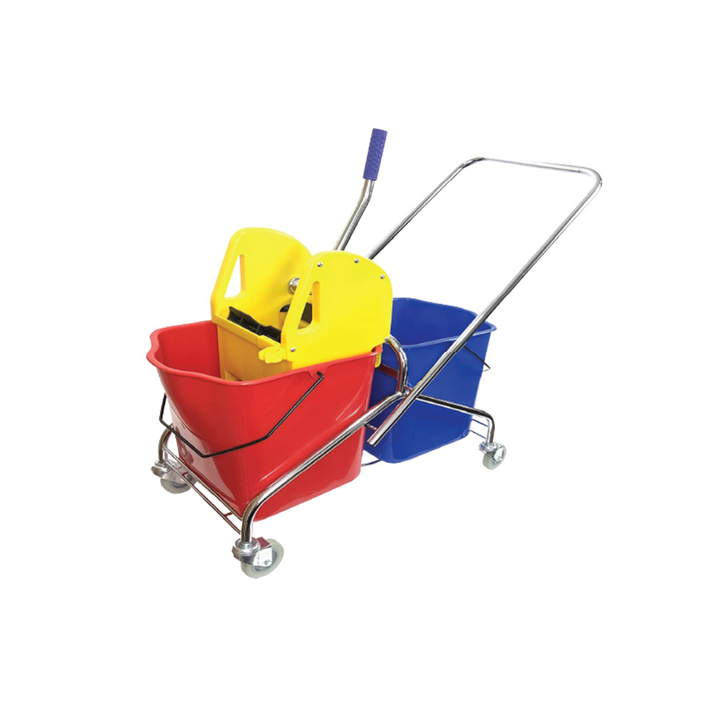 Double bucket compact electric cable hoist