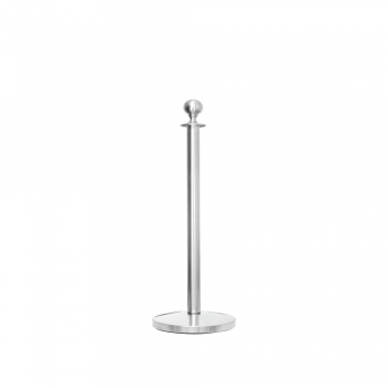 Stainless Steel Velvet Rope Q-Up Stand (Round Head)