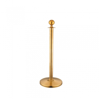 Stainless Steel Velvet Rope Q-Up Stand - Gold
