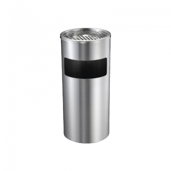 Stainless Steel Round Bin c/w Ashtray Top (SS 108)