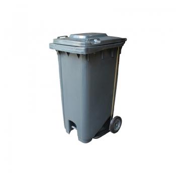 Mobile Garbage Step On Bins (Grey)
