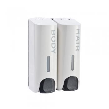 Hair & Body Dispenser 350ml x2 (White)