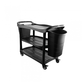 3 Tier Utilities Cart c/w Buckets (Black Body)