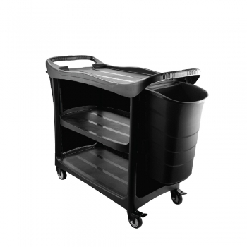 3 Tier Utilities Cart c/w Buckets & 3 Side Cover (Black Body)