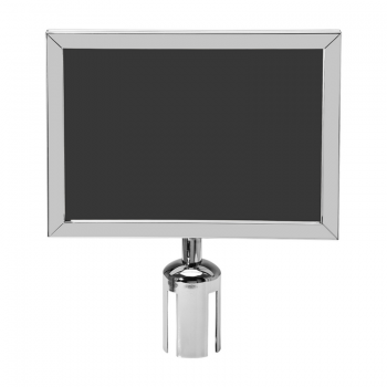 Stainless Steel Q-up Stand Insert/Slip in Frame - Horizontal (A4/A3)
