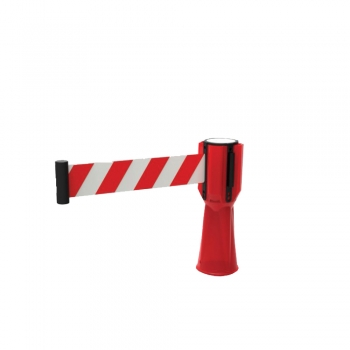 Traffic Cone Topper Cw Retractable Belt (Red + White)
