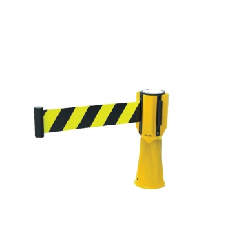 Traffic Cone Topper Cw Retractable Belt (Yellow + Black)