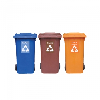 Recycle Mobile Garbage Bin (3 in 1)