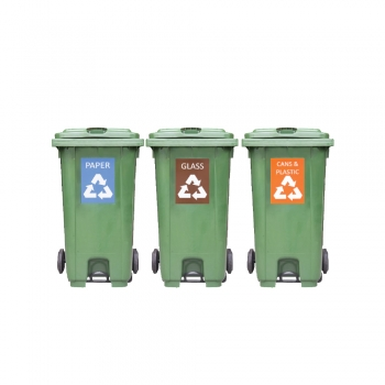 Recycle Mobile Garbage Bin With Foot Pedal