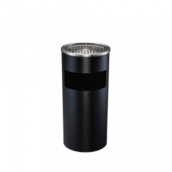 Powder Coated Round Bin c/w Ashtray Top (SS 108-B)