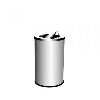 Stainless Steel Round Bin c/w Flip Top (SS 106)