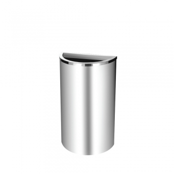 Stainless Steel Semi Round Bin c/w Open Top (SS 103)