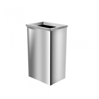 Stainless Steel Rectangular Bin c/w Open Top (SS 111-OT)