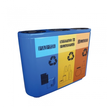 Joint FRP Recycle Bin 3 in 1