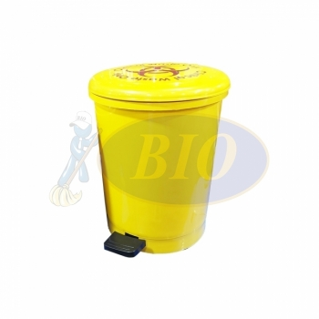 18L Clinical Waste Pedal Bin - Round