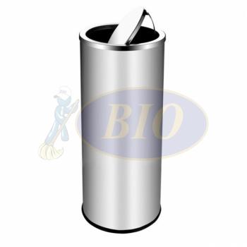 SS126-H Stainless Steel Bin Round C/W Flip Top