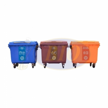 660L |CM3| Mobile Garbage Recycle Bin 3-in-1 C/W Sticker