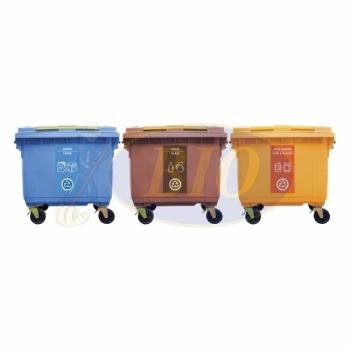 660L |CM3| Mobile Garbage Recycle Bin 3-in-1 C/W Sticker
