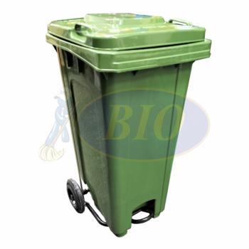 120L Mobile Garbage Bin 2-Wheel c/w Foot Pedal