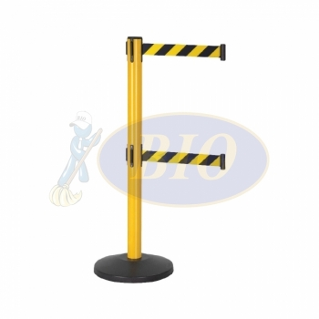 Safety Q-up Stand c/w Retractable Twin Belt (Yellow & Black)
