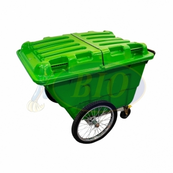 400L Mobile Garbage Trolley Bin 4-Wheel