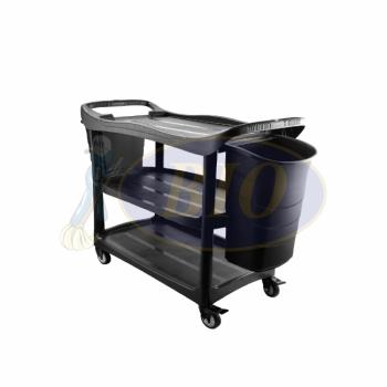 3 Tier Utilities Cart c/w Buckets (Black Body)