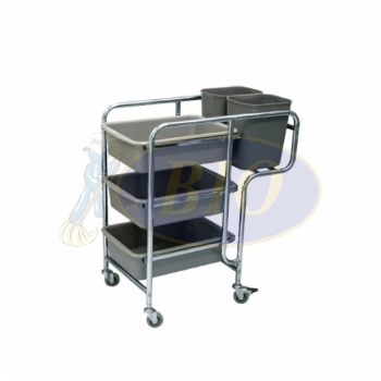 Restaurant Cart c/w Buckets
