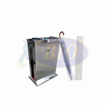 Stainless Steel Umbrella Bag Wrapping Stand - Double