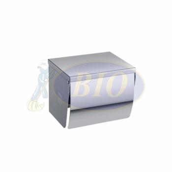 Stainless Steel Toilet Roll Dispenser (Full Cover + Flat Top)