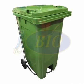240L Mobile Garbage Bin 2-Wheel c/w Foot Pedal