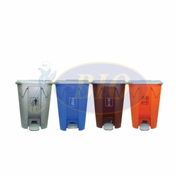 Recycle Pedal Bin 68L (4 in 1) cw Wheel
