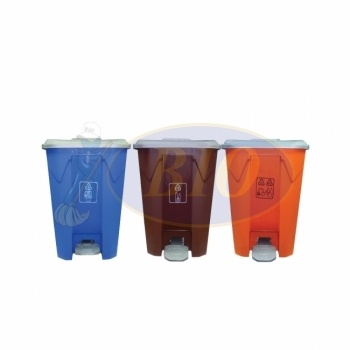 Recycle Pedal Bin 68L (3 in 1) cw Wheel