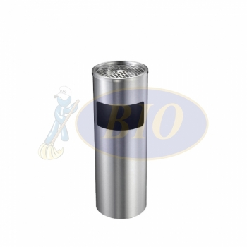 Stainless Steel Round Bin cw Ashtray Top (SS 109)
