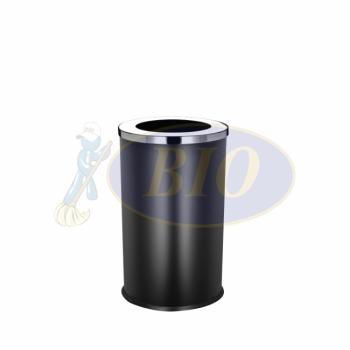 SS107-B Black Powder Coated Bin Round C/W Open Top