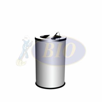 SS106 Stainless Steel Bin Round C/W Flip Top