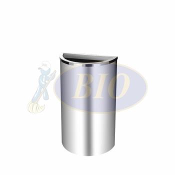 SS103 Stainless Steel Bin Semi Round C/W Open Top