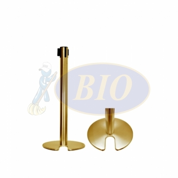 Gold Coated Retractable Belt Q-up Stand (Stackable)
